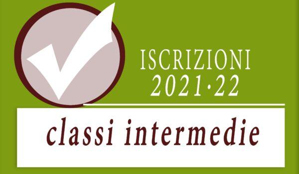 Iscrizioni classi intermedie 2021/22