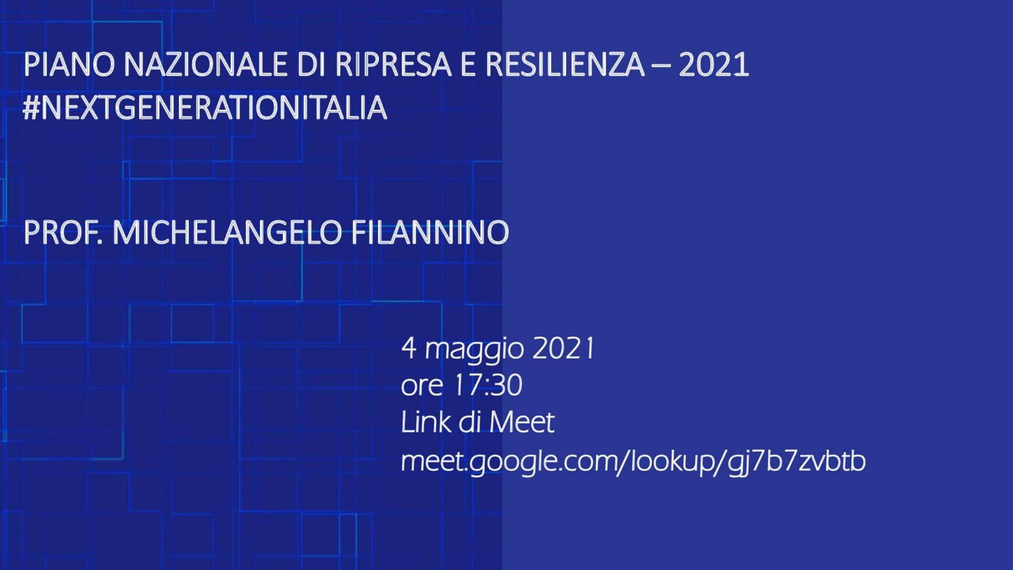 Incontro 4 maggio 2021 Filannino